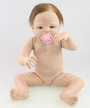 22 inch Full Vinyl Reborn Baby Girl Doll Boy Doll Naked Doll