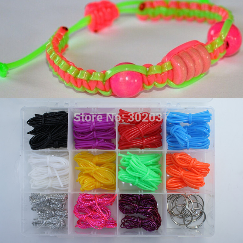 2016 new scoubidou bracelet string kit multi plastic diy for What can you make out of string