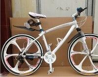 26 Inch Aluminium BMX MTB Mountain Bike Bicycle 21 Speed One Piece Wheel Disc Brakes Bicycle