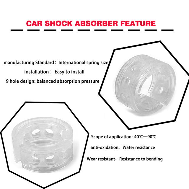 Hippcron Car Shock Absorber Spring Bumpers  Power Auto-Buffers 1 Pcs A/B/C/D/E/F Type Cushion Buffer