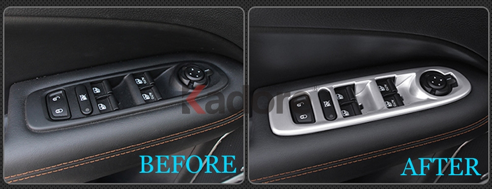 ABS Matte inner Door Armrest Window Switch Cover  For Jeep Compass 2017 2018