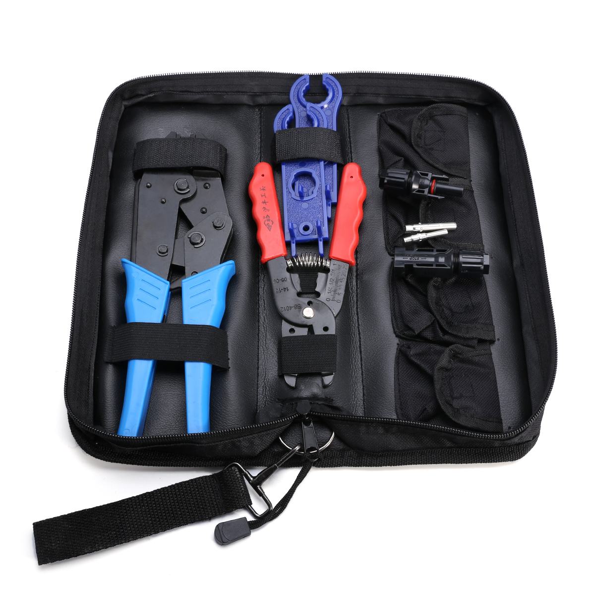1Set Wire Stripper Cutter Cable Crimper Crimping Tool Kit with MC4 Connectors Wrenches solar crimping tool kits with 2 5 6 0mm2 crimping tool mc3 mc4 crimping die solar tool set with mc4 mc3 crimper stripper cutter