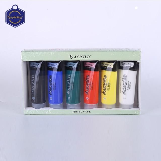Is Acrylic Paint Toxic >> Keepsmiling 75ml Acrylic Paint Wall Paints Art Painting Set Of 6