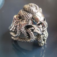 Series 925 Pure Silver Medusa Ring