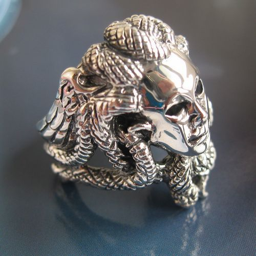 Series 925 Pure Silver Medusa Ring In Rings From Jewelry