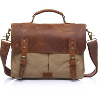 Hot Sale Fashion Canvas Briefcase High Quality Laptop Bag Men Free Shipping Notebook Bag For Computer