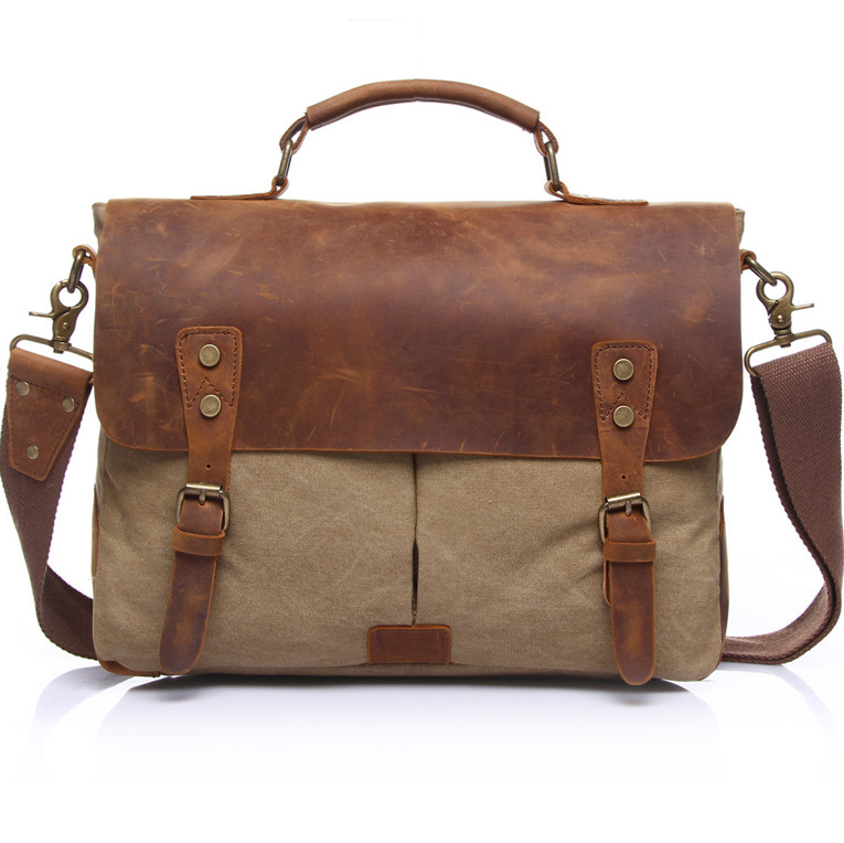 Hot sale fashion canvas briefcase,high quality Laptop bag men,free shipping notebook bag for computer proctection message bag hot sale original quality new laptop battery for clevo d450tbat 12 d450t 87 d45ts 4d6 14 8v 6600mah free shipping
