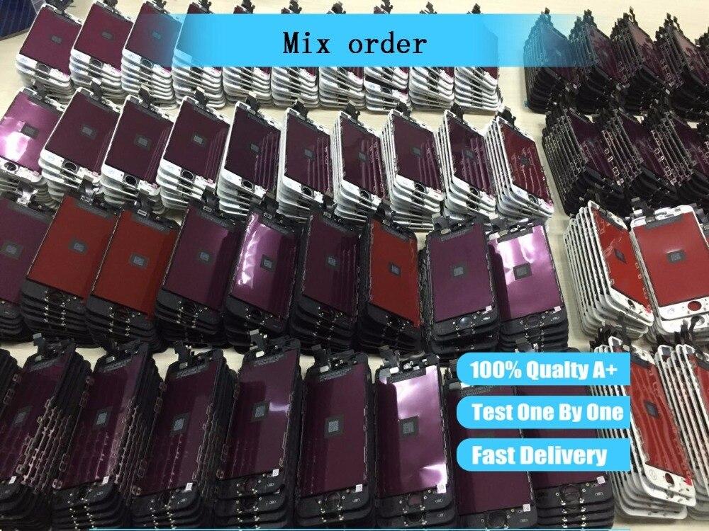 Enlace orden de la mezcla especial de montaje lcd pantalla reemplazo Digitalizador de pantalla táctil para el iphone lcd