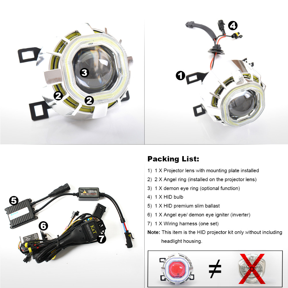 Kt Headlight Suitable For Yamaha Fz6r 2009 2016 Led Angel Eye Red Wiring Diagram Demon Motorcycle Hid Bi Xenon Projector Lens On Alibaba Group