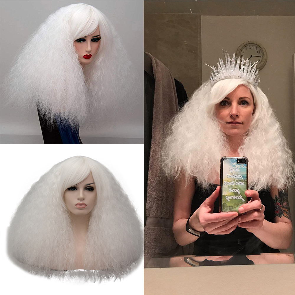 2018 New Style Themed Party Or Daily Costume Soft Wigs Short Fluffy Cosplay Wig with Bangs Costumes For Women Gift Dropshipping
