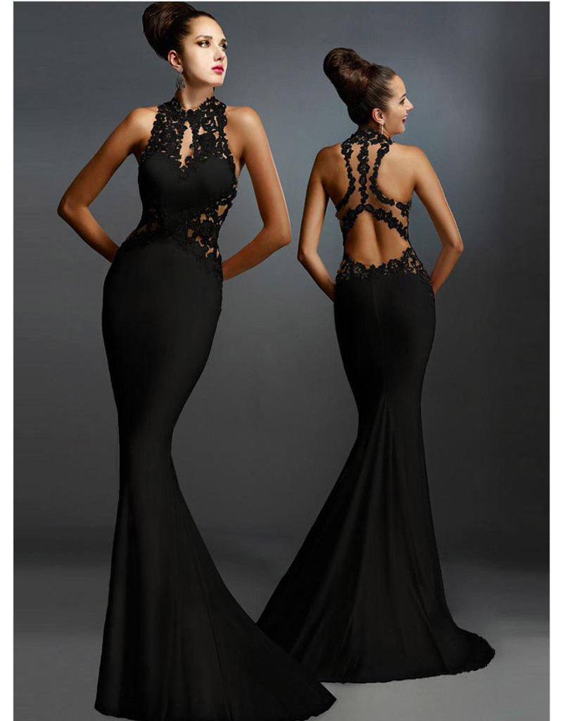 Olrain Women Sexy Sleeveless Backless Long Mermaid Prom Ball Gown Dresses  Formal Evening Party Dress-in Dresses from Women s Clothing   Accessories on  ... d5caa4427580