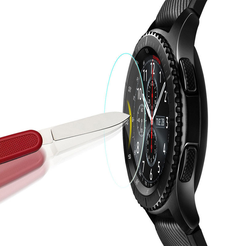 Image 5 - 2Pcs/Lot 9H 2.5D Tempered Glass Watch Film For Samsung Gear S3/S2 Classic/Frontier Explosion proof Protective FilmWatch Screen Protectors   -