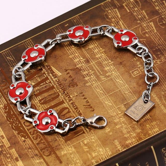 Naruto Takiraka Sharingan logo Charm Bracelet