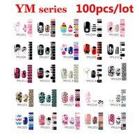 100pcs Self Adhesive Nail Art Sticker Wraps Stylish Nail Patch Foils Decoration DIY Nail Art Supplies