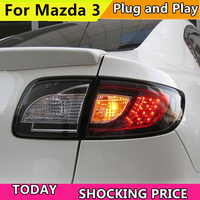 Car Styling for Mazda 3 Taillights 2006 2012 for Mazda 3 LED Tail Lamp+Turn Signal+Brake+Reverse LED light