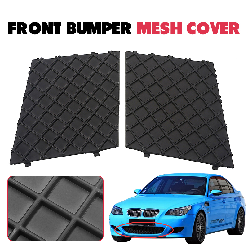 Car Right Driving Side For BMW E60 E61 M Sport Front Bumper Cover Mesh Grill Kit