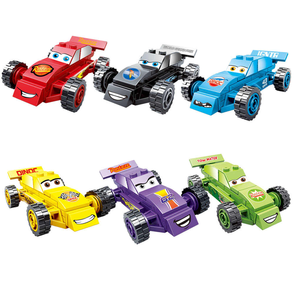Kitoz Cars 3 Juniors Easy to Build Lightning Smokey Sheriff Willy Miniature  Building Block Toy for Boy Compatible with Lego