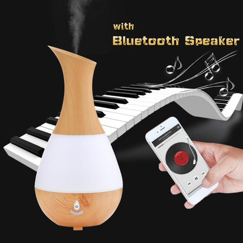 230ml Bluetooth Speaker Essential Oil Aroma Diffuser USB Mini Colorful Light Wood Grain Air Humidifier Mist Maker230ml Bluetooth Speaker Essential Oil Aroma Diffuser USB Mini Colorful Light Wood Grain Air Humidifier Mist Maker