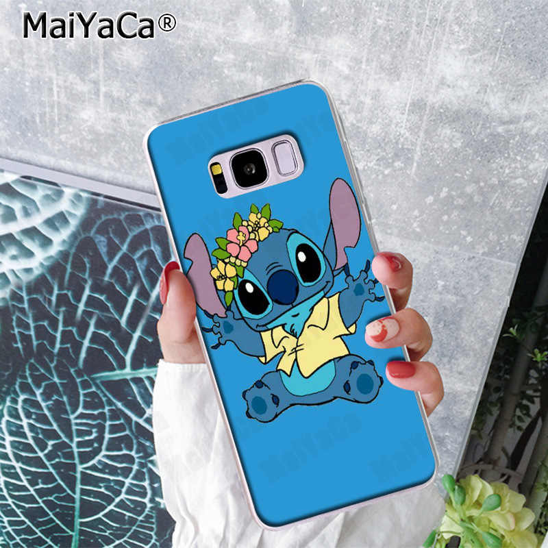 MaiYaCa bonito dos desenhos animados Lilo e Stitch Arte Abstrata Impressão Casos de Telefone para Samsung S9 S9 plus S5 S6S6edge S6plus S7S7edge s8 S8plus
