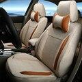 New Styling Assentos Tampa Custom Fit para Fiat Punto Peças Acessórios Do Carro Assento de Carro de Linho Cobre & Apoio Carro Ventilado Conjunto almofada