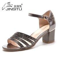 JINSITU 2017 new Women shoes Wedding Shoes Woman High Heels Fashion High Heels shoes