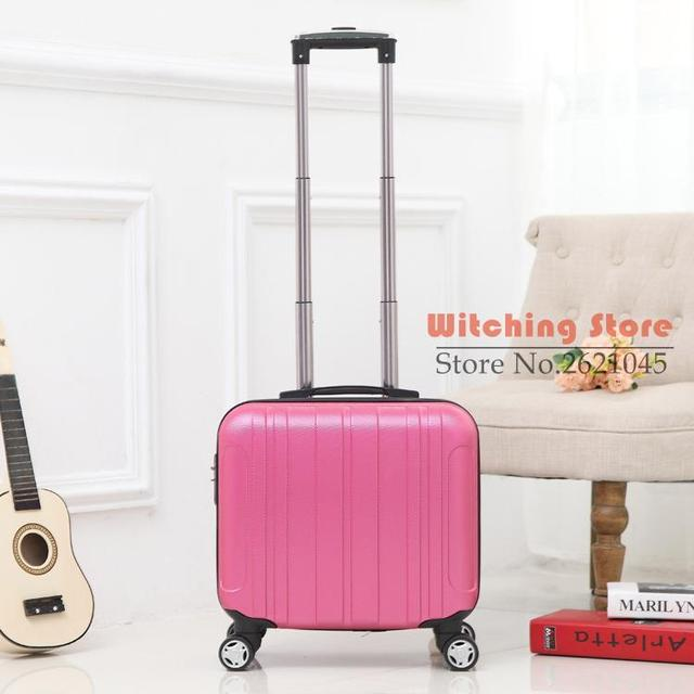 17 INCH 17# 17 pull rod Korea board box ABS universal wheel female 16 computer suitcase #EC FREE SHIPPING