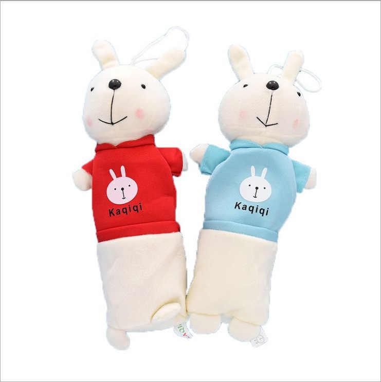 الكورية أرنب القلم حقيبة الإبداعية الأطفال الكرتون صندوق أدوات مكتب ألعاب من القطيفة جائزة لطلاب المدارس الابتدائية