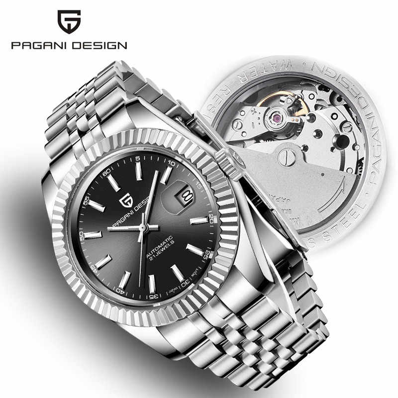 Men's Watches 2019 New Top Luxury Brand PAGANI Design Fashion Automatic Mechanical Steel Watch Men Military Sport Wristwatch+box