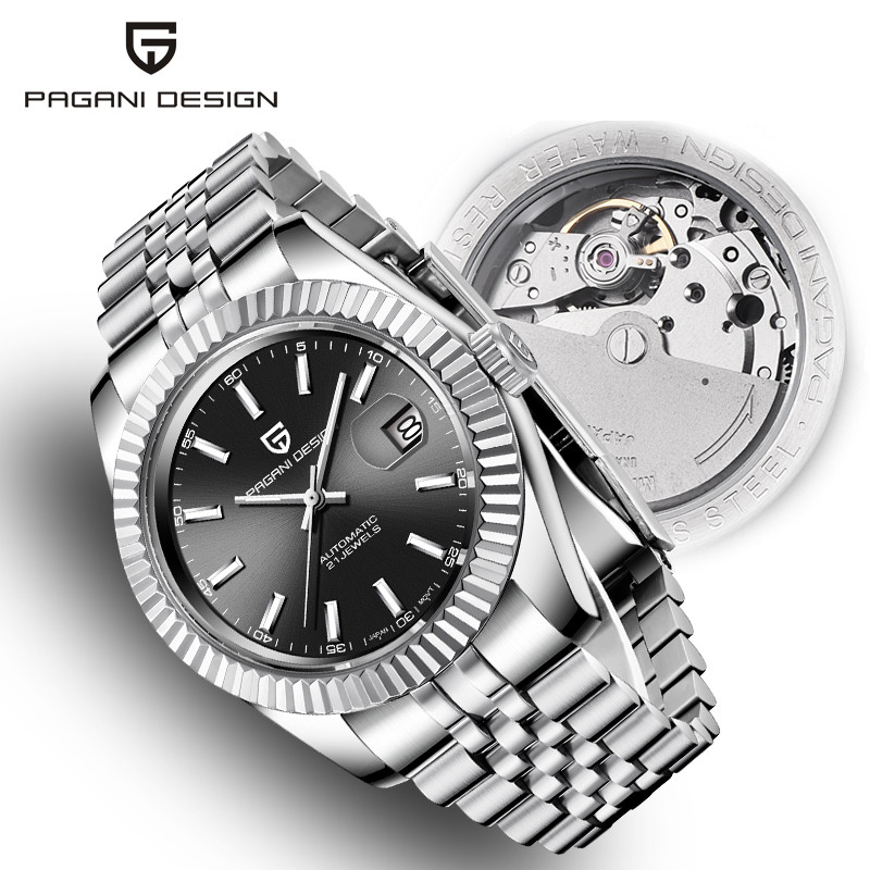 Men's Watches 2019 New Top Luxury Brand PAGANI Design Fashion Automatic Mechanical Steel Watch Men Military Sport Wristwatch+box