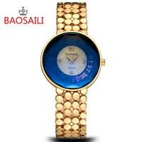 BAOSAILI Brand Luxury Crystal Gold Watches Women Ladies Quartz Wristwatches Bracelet Relogio Feminino Relojes Mujer BS022