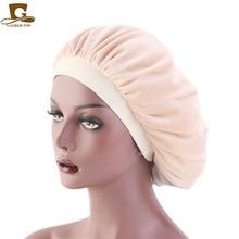 Hot New Women Chemo Cap Beauty Salon Night Sleep Head Cover Velvet Bonnet Hat durag Sleeping Caps Girls Hair accessories
