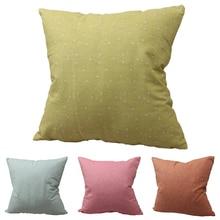 CURCYA Florets Like Linen Cushion Covers Simple Plain Japanese Style Throw Pillow Covers Linenette Decorative Pillowcase цены