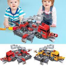 ABS Wadah Model Truk Mainan Anak Diecasts Kendaraan Bangunan Model Kit Mainan Anak Truk Merakit Mainan Anak Laki-laki Hadiah Ulang Tahun