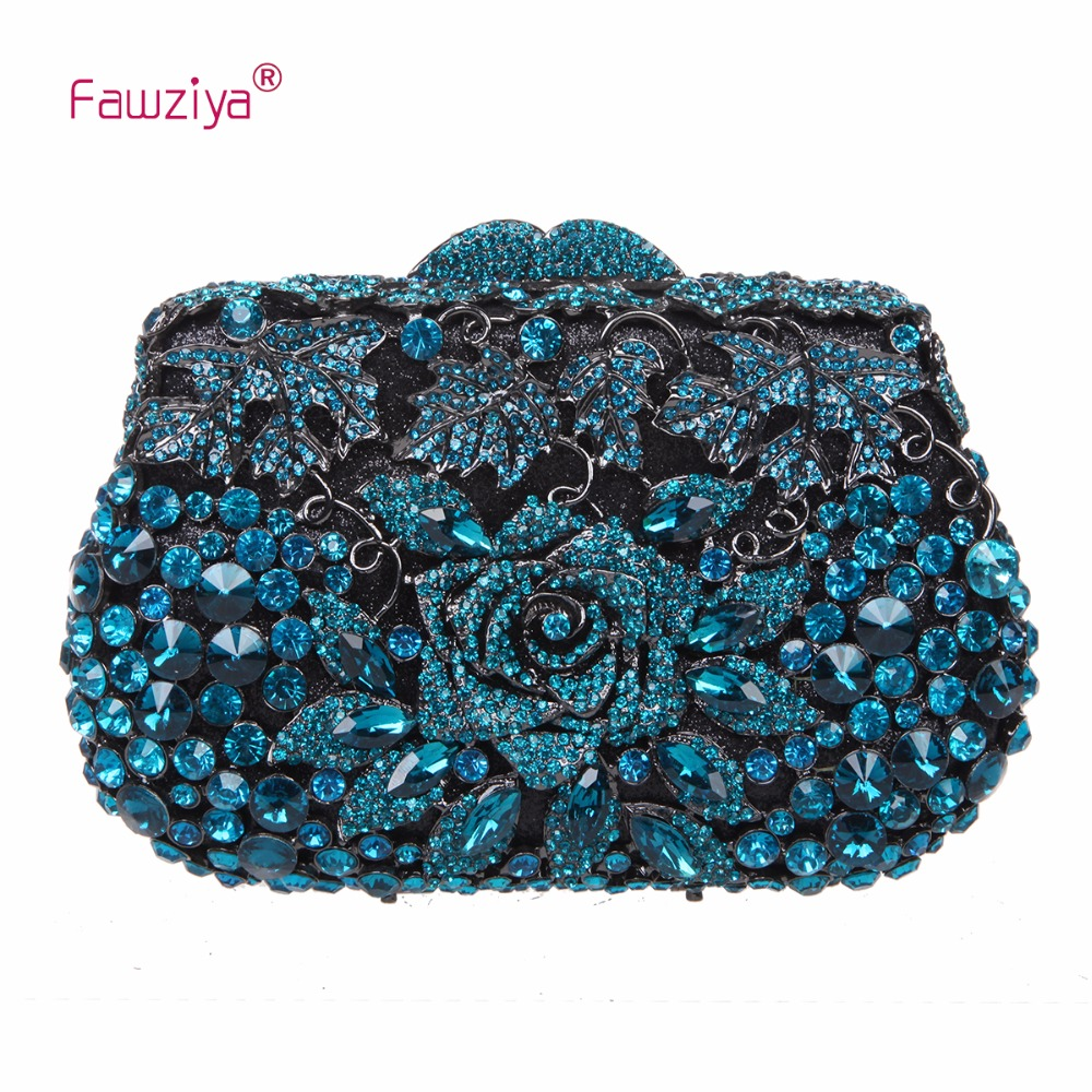 Fawziya Purse Party Purses Rose Metallic Clutch Purses And Handbags For Womens Evening Bags fawziya evening bags kisslock purses hard case clutch evening party bags