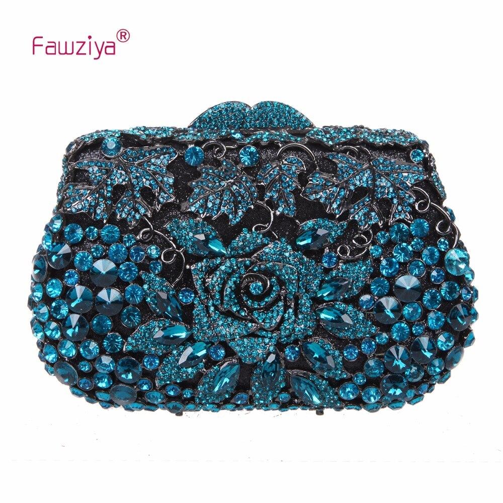 Fawziya Purse Party Purses Rose Metallic Clutch Purses And Handbags For Womens Evening Bags fawziya womens handbags and purses man made cat s eye sunflower clutch bag for women purse