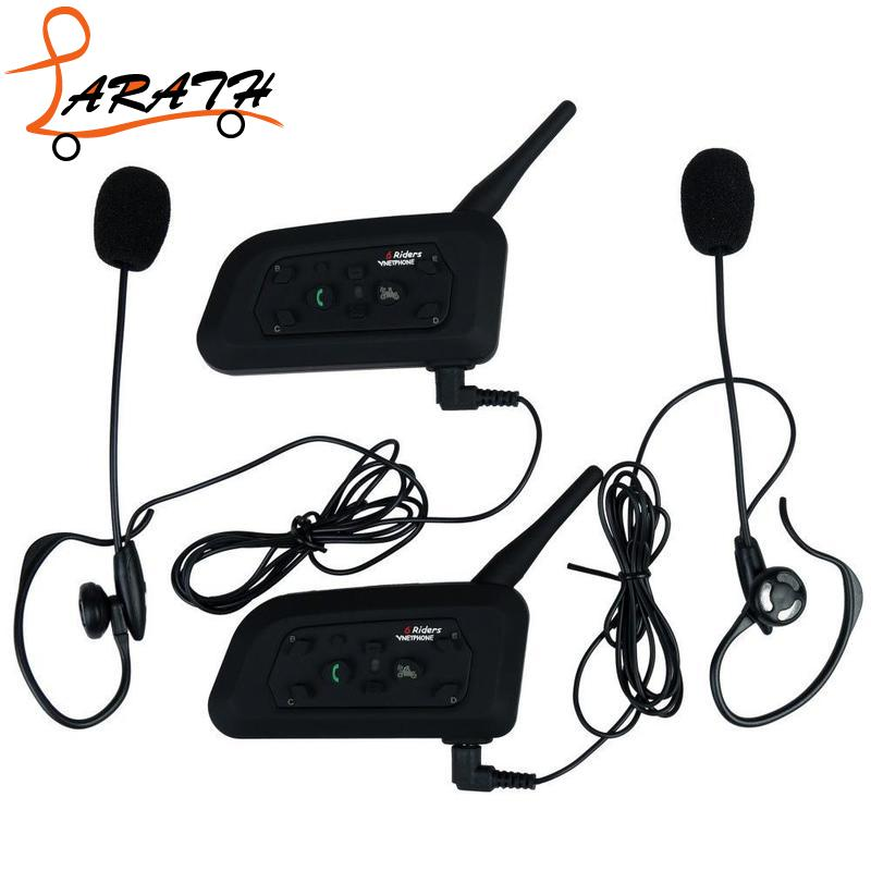 LARATH Ride Headset BT Intercom Full Duplex 6Users 1200M Interphone Bluetooth Wireless Earphone Speaker MCT5042