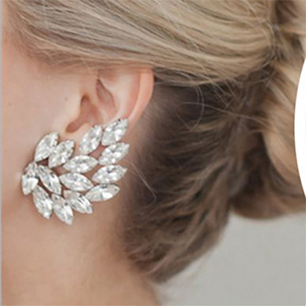 FAMSHIN new fashion horse eyes crystal earrings alloy metal generous simple earrings jewelry 2017-in Stud Earrings from Jewelry & Accessories on AliExpress