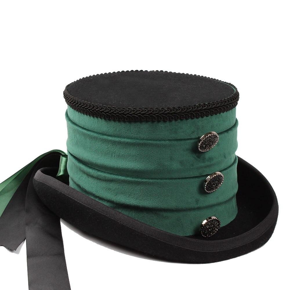 13.5CM 4 Size Women Wool Top Bride Steampunk Fedora Hat Lady Mesh  Traditional Beaver Black Feather Party Wedding Hat f7a0b427eb0