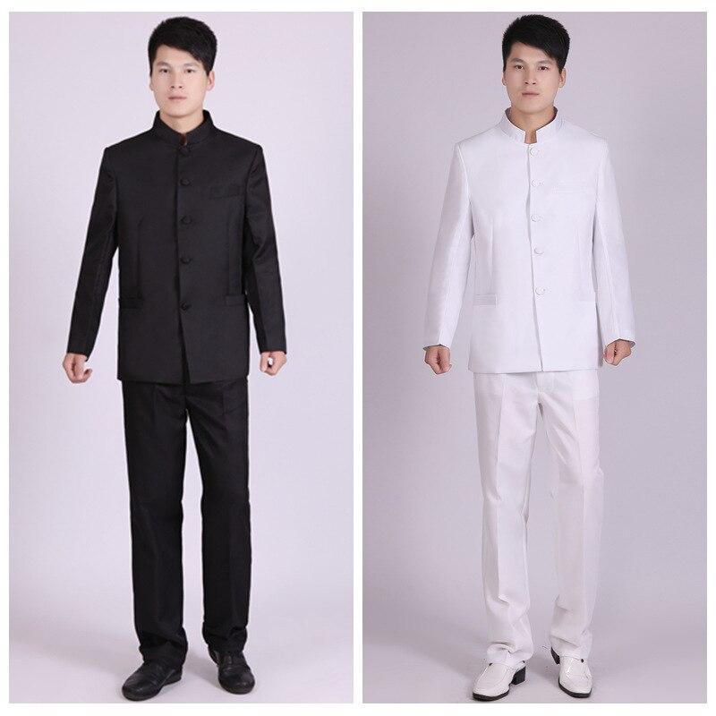 xl Tunique Style Spectacle Porter Et Pantalon veste Étudiant Black Noir Chinois Hommes Costume De Costumes Mens Blanc Xxs Stage Chœur white E8PwCUxwq