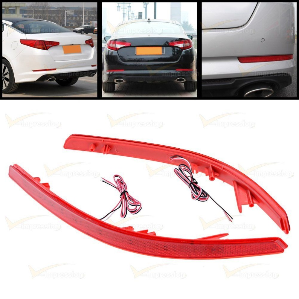 CYAN SOIL BAY Fit For KIA Optima K5 2011 2012 2013 Red lens 44-SMD LED Rear Bumper Reflector Light блокиратор рулевого вала fortus kia optima 2011 2013 csl 2503