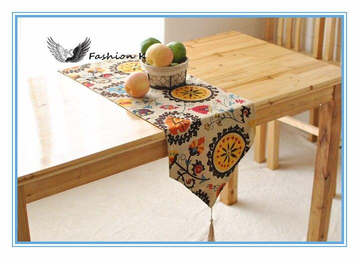 30 Cm Width Vintage Retro Bohemia European Tassels Tea Table Cabinet Flower Table  Runner Fancy Table ...