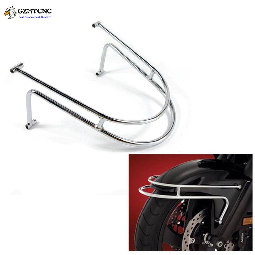 GL1800 Chrome Front Fender Rail Guard Bumper Frame Protection For ...