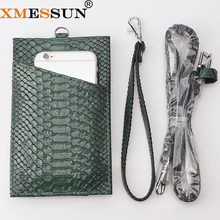 Genuine Leather Card Holder Women Men Cow Leather With Snake/ Crocodile Pattern Wallet ID Credit Card Wallet High Quality(China)