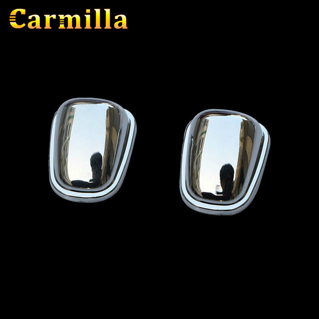 2Pcs/Set ABS Chrome Sprinkler Head Water Spray Nozzle Wiper Water-jet Cover Trim Sticker for Jeep Compass 2016 2017 Accessories