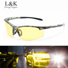 2018 Hot Men Polarized Yellow Night Vision Glasses Driving Outdoor Sports Sunglasses Camo Goggles Half Frame HD Lens Eyewears(China)