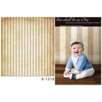 MEHOFOTO 5x7ft Children Photography Backdrops Yellow Stripe Photo Background For Photo Studio S 1218