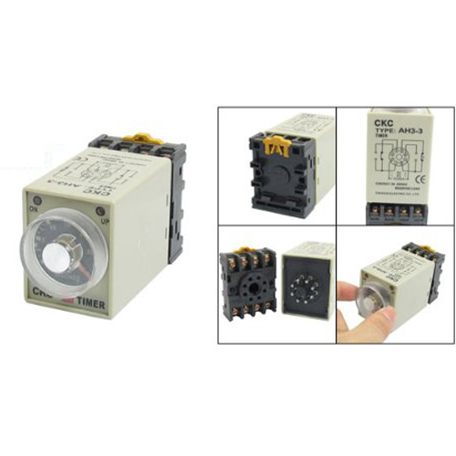 DSHA New Hot DC 12V 0-30 Seconds 30s Electric Delay Timer Timing Relay DPDT 8P w Base szs hot dc 12v 0 30 seconds 30s electric delay timer timing relay dpdt 8p w base
