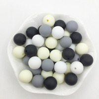 10-12-15 Silicone Beads Classic colors Teething Beads Safe Food Grade Teething 10mm/12mm/15MM Round Silicone Beads 100pcs/lot