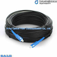150M Outdoor FTTH Fiber Optic Drop Cable Patch Cord SC to SC Simplex SM SC SC 150 Meters Drop Cable Patch Cord