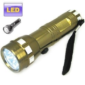 Super Bright LED Flashlight - Stainless Steel, 14 LED Bulbs 100000 Hours Life